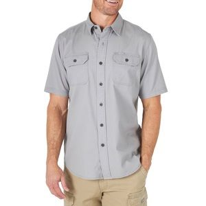 Wrangler Relaxed Fit Short Sleeve Button Down